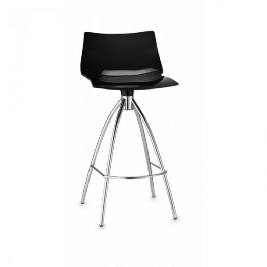 tabouret ht 65 daylight assie polycarbonate pieds chrome seat in. Black Bedroom Furniture Sets. Home Design Ideas