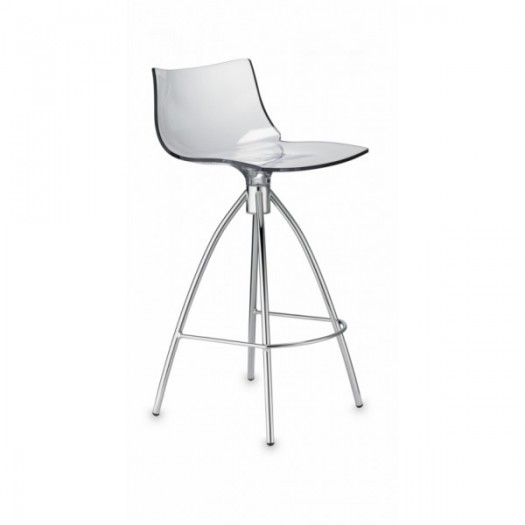 Tabouret ht 65 daylight assie polycarbonate pieds chrome seat in - Tabouret de plan de travail ...
