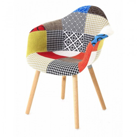 Fauteuil KASKETTI Patchwork Style Scandinave